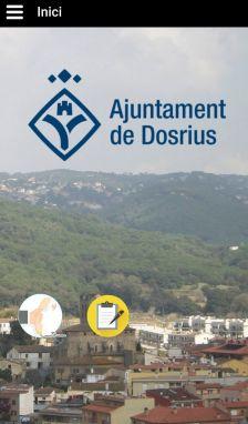 Captura de pantalla de la pàgina d'inici de l'App de l'Ajuntament
