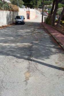 Estat actual dels carrers de la urbanització de Can Massuet El Far