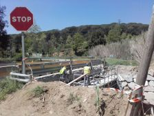 Arranjament del pont situat a la carretera BV-5101