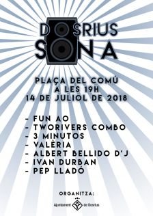 Cartell de la 1a edició de Dosrius Sona