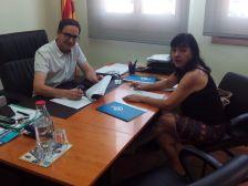 Signatura del conveni entre l'Ajuntament i l'Associació d'Amics dels Animals de Dosrius (AAAD)
