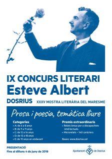 Cartell de l'IX Concurs Literari Esteve Albert