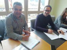 Signatura del contracte públic d'obres del projecte d'urbanització de la zona d'equipaments de Can Batlle