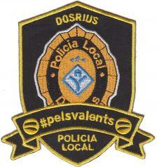 Escut brodat de la Policia Local de Dosrius