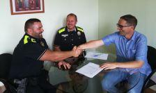 Presa de possessió de Jesús Godoy com a nou funcionari de carrera del cos de la Policia Local