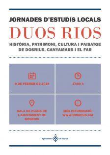 Cartell de les Jornades d'Estudis Locals 'Duos Rios'