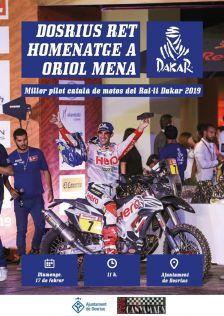 Cartell de l'acte d'homenatge a Oriol Mena