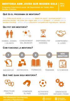 La Generalitat implementa a Dosrius un programa de mentoria pels joves migrants sense referents familiars